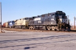 SB freight waiting fro a crew