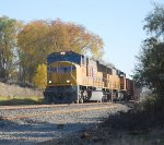 UP 4926 heads west bound on sunny autumn day