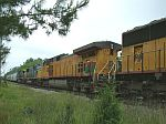 UP 9635 on train Q614