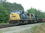 A CSX local follows Q182