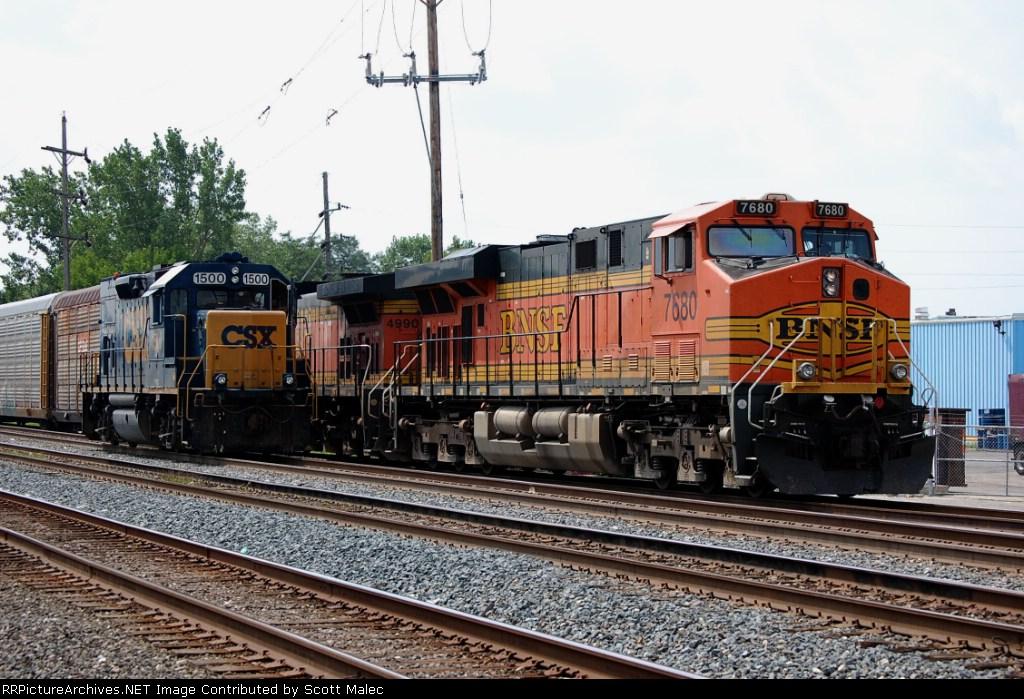 BNSF 7680 & CSX 1500