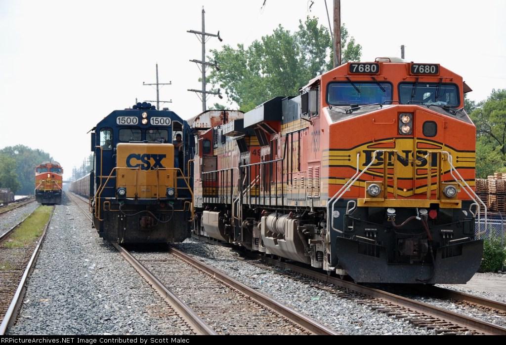 BNSF 7680, CSX 1500 & BNSF 5279