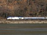 Amtrak Empire Service At Breakneck Ridge