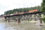BNSF 4934 Crossing the Clark Fork River