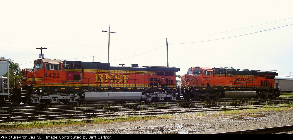 Wreck-damaged BNSF units