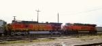 Wreck-damaged BNSF units