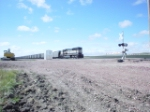 BNSF 9764 fades into the distance