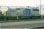 GP38-2 2575 sits ion the service track of the NYS&W