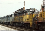 Back when GP30's were still powered units on CSX, a pair roll past in a larger consist