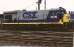 B36-7 5576 seen at Oak Island on the service tracks between runs
