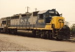 GP40-2 6072, and U-Boat 3264 sit in the inbound track awaiting servicing at Oak Island
