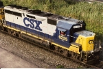 GP40-2 6235 leads a northbound CSSE towards the yard as it approaches CP-SK after an overnight trip north