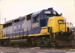 This former B&O GP40-2 sits on the service track between runs at Oak Island