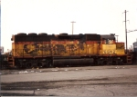 Its paint faded, this Chessie GP40 made an appearance at Oak Islane