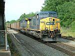 NB Coal Train pulls up