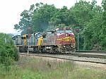 BNSF 838 leads train Q541