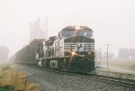 West bound NS 9301 on a foggy morning at mp 136
