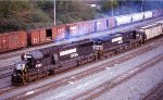 NB freight heading for the yard
