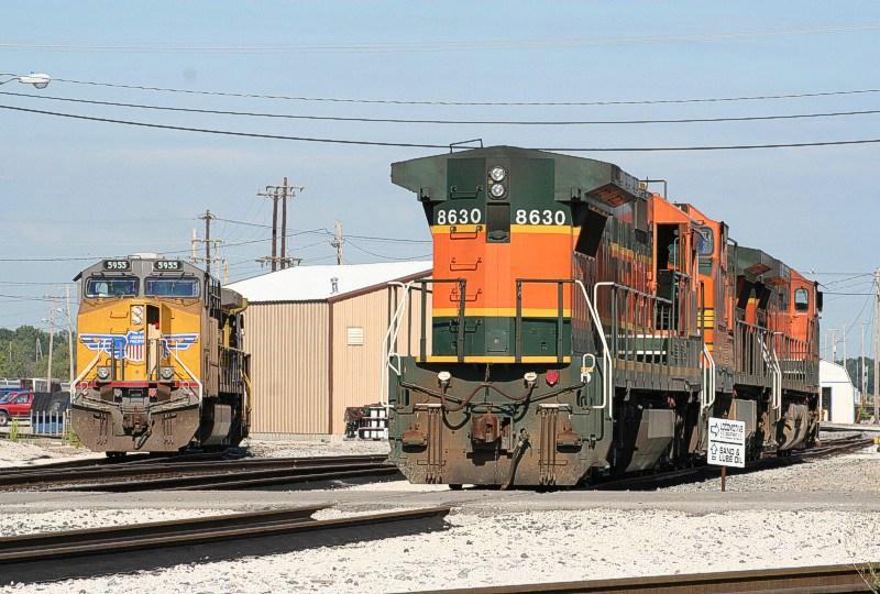 UP 5955 & BNSF 8630