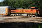 BNSF C44-9W 658 takes an eastbound set of auto racks solo.