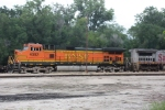 BNSF 4082 is caught pushing an eastbound