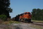 BNSF 6121 leads an eastbound coal drag down the St. Joseph sub