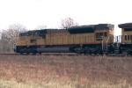 UP 8080 leading an EB coal train