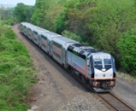 NJT train 5733 heads to its next stop at Annadale on the RVL