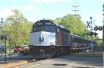 NJT Train 5729 is slowing down for a scheduled station stop