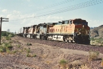 Eastbound Z with ATSF GP60 in consist