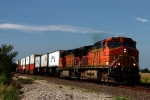 BNSF 4592 leading 