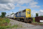 CSX B785-19 runs long hood forwad up to the Rooseveltown Industrial Track with cars for Alcoa East