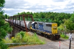 B785-19 runs up the Rooseveltown Industrial Track out to work at Alcoa East