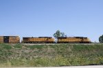 UP 4495 Leads an Eastbound Mixed Freight