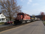 Northbound Freight Manifest Rolls Slowly Through Town