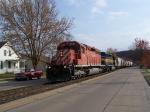 Northbound Freight Manifest Rolls Slowly Through Town