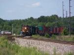 BNSF 4496 Leads an Intermodal Train Around a Tight Curve
