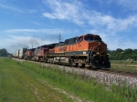 BNSF 1026 & Two Other Dash-9Ws Take Trailers East to Chicago