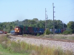 BNSF 1072 Takes a Doublestack Train East to Savanna, IL