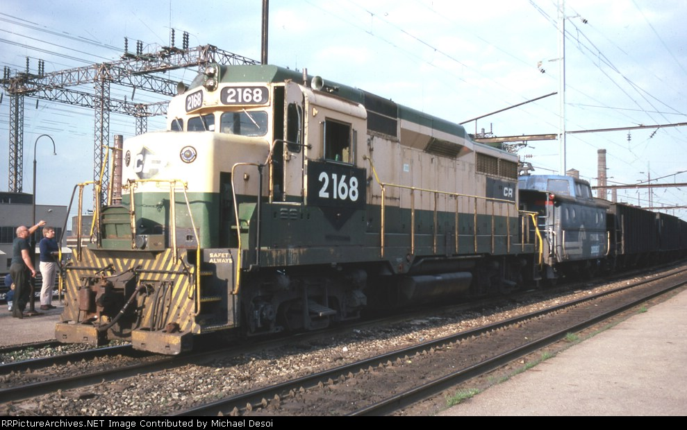 CR 2168 is actually the pusher on CARU (Camden - Rutherford) at Frankford Junction