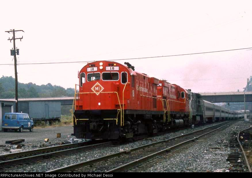 M&E 18 leads a fantrip through what is now CP88