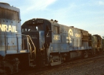 RARE CR U-28-B  #2822 (only 2 on the roster) is in the middle of a consist at Belmont