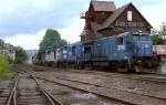 D&H U-33-B #2924 (EX CR same #) leads a northbound past the classic Cobleskill Coal Company