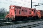 AMTK GP-7 #781 with a work train at Frankford Junction