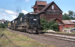 N&W 8038 Leads A Train At The Classic Cobleskill Coal Co. Building