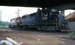 CR GP-38-2 #8070 leads a local into the yard