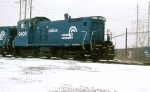 CR SW-1001 #9409 sits in the snow at Frankford Junction