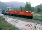 M&E C-424 #18 leads a fan trip to Jim Thorpe