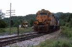 MEC GP-38 #256 leads a freight