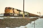 Coal train prepares to head north